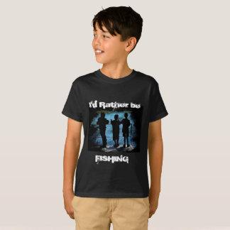 T-shirt Plutôt pêche la chemise d'enfants