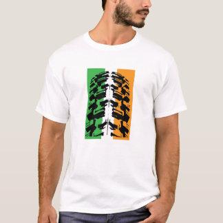 T-shirt Pneu irlandais de pneu de vélo de montagne