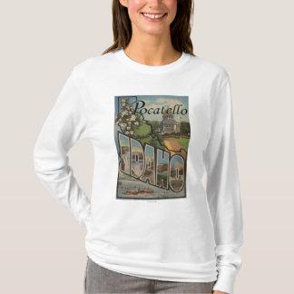T-shirt Pocatello, Idaho - grandes scènes de lettre