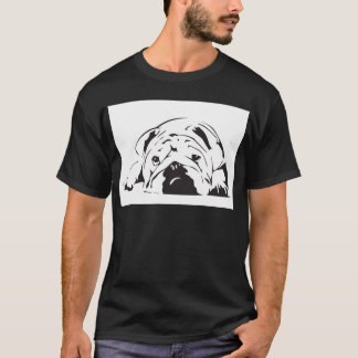 T-shirt Pochoir britannique de bouledogue