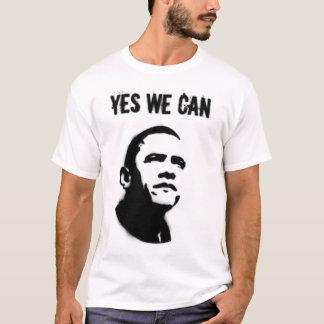 T-shirt Pochoir de Barack Obama (les deux côtés)
