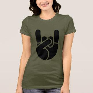 T-shirt Pochoir de main de roche