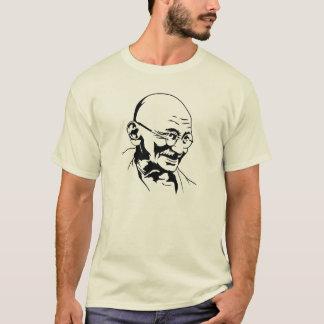 T-shirt pochoir de portrait de l'Inde de gandhi rétro