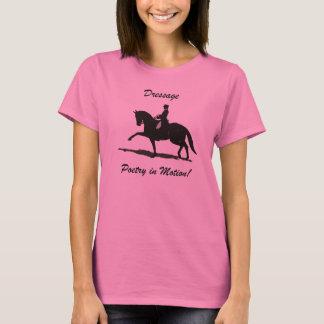 T-shirt Poésie de dressage chez le cheval de mouvement