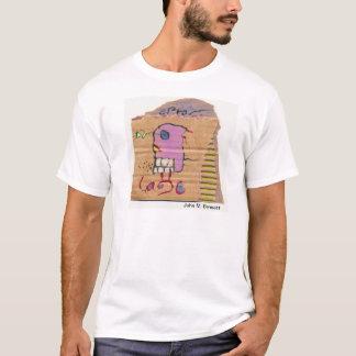 T-shirt Poésie visuelle par John M. Bennett