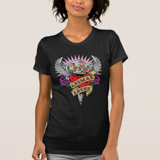 T-shirt Poignard animal d'abus