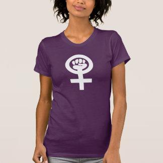 T-shirt Poing de féministe de puissance de femme