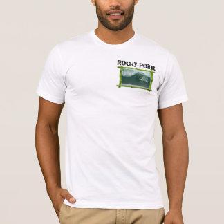 T-shirt Point rocheux, rivage du nord, Oahu, Hawaï