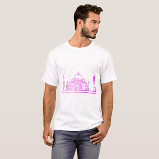 T-shirt Points de repère - la chemise d'homme du Taj Mahal
