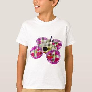 T-shirt Points jaunes/bourdon minuscule rose de huée