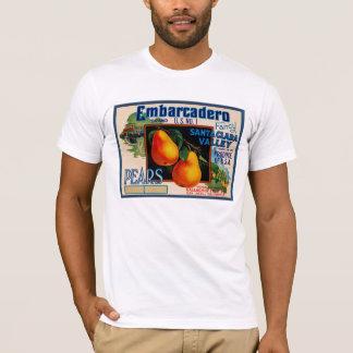 T-shirt Poires de fantaisie d'Embarcadero Santa Clara