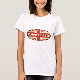 T-shirt Poisseux lambinez sur le drapeau d'Union Jack