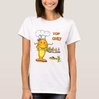T-shirt Poisson-chat supérieur 3 de chef