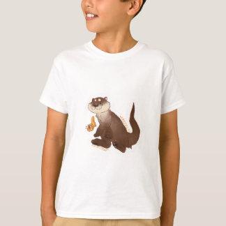 T-shirt Poisson rouge de n de loutre