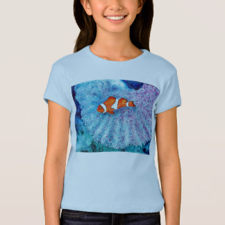 T-shirt Poissons paisibles T de clown de Nemo