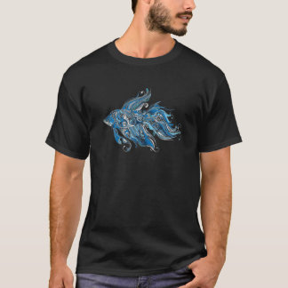 T-shirt Poissons tribaux abstraits