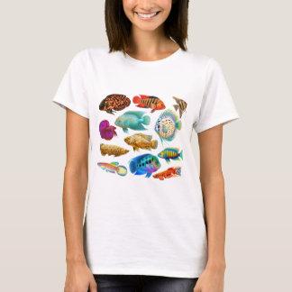 T-shirt Poissons tropicaux colorés