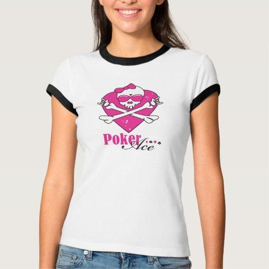 T-shirt Poker Ace Skull Lady