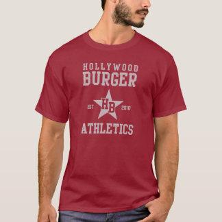 T-shirt Police de gris d'athlétisme d'étoile d'hamburger