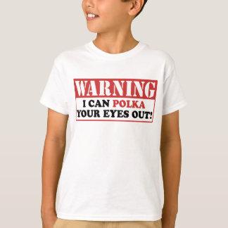 T-shirt Polka d'avertissement vos yeux