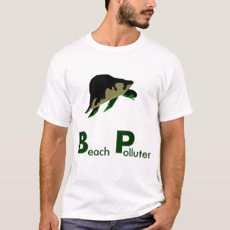 T-shirt Pollueurs de plage - nous devons boycotter BP