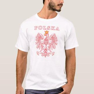 T-shirt Polska avec le polonais Eagle de rouge
