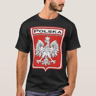 T-shirt polska-foncé, bouclier de Polska/drapeau polonais