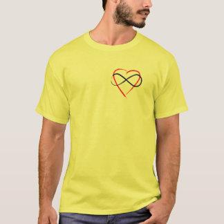 T-shirt Poly finition de brosse de symbole