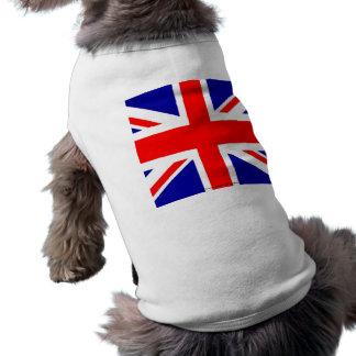 T-shirt Pom britannique du R-U de drapeau de drapeau angla