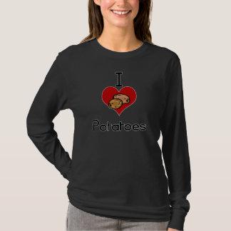 T-shirt Pomme de terre du l'amour-coeur I