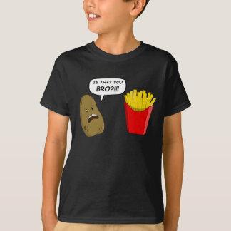 T-shirt pomme de terre et fritures