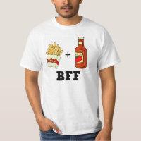 Pommes frites et ketchup BFF