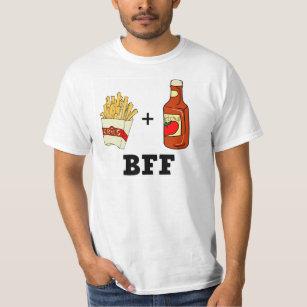 T-shirt Pommes frites et ketchup BFF
