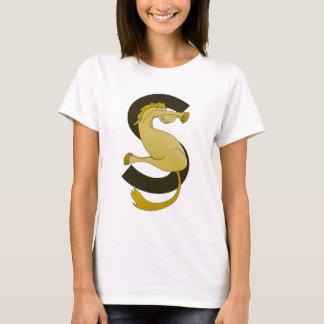 T-shirt Poney drôle du monogramme S customisé