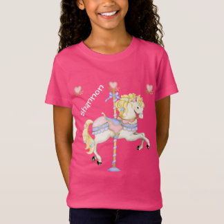 T-Shirt Poney en pastel de carrousel