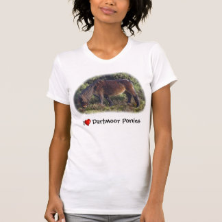 T-shirt Poneys de Dartmoor du coeur I