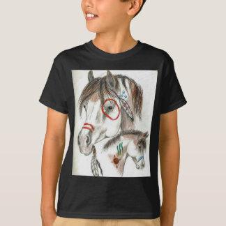 T-shirt Poneys de guerrier d'esprit
