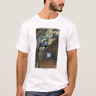 T-shirt Pont au-dessus de l'abîme montrant la roche
