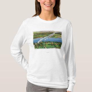 T-shirt Pont de Rip Van Winkle au-dessus du fleuve Hudson