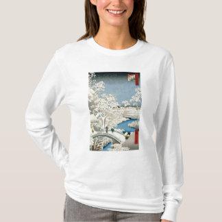 T-shirt Pont en tambour et colline de coucher de soleil