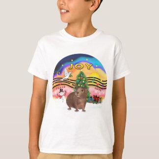 T-shirt Porc 3 de la musique 2-Guinea de Noël