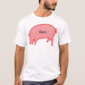 T-shirt Porc de claquement