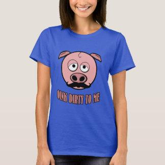 T-shirt Porc de moustache krouik-krouik sale à moi
