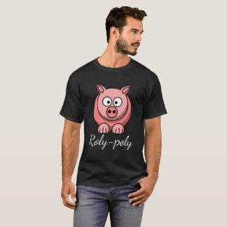 T-shirt Porc grassouillet Pigling Piggywiggy de rose en