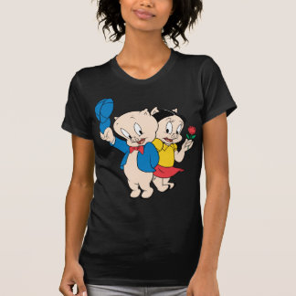 T-shirt Porc gros et pétunia