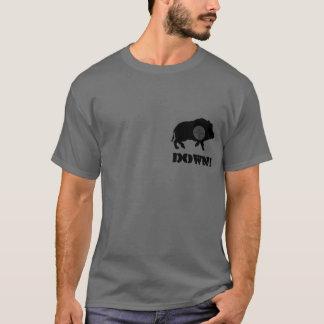 T-shirt Porc noir vers le bas ! Chemise