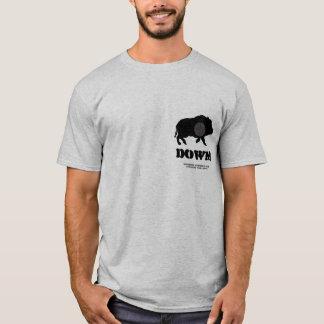 T-shirt Porc noir vers le bas ! Club de chasse de Bucknutz