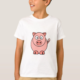T-shirt Porc rose