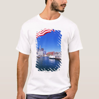 T-shirt Port des Etats-Unis, le Massachusetts, Boston,