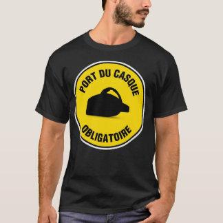 T-Shirt Port du casque obligatoire